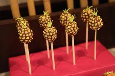 Luau Theme: Cute Pineapple shaped pops
