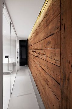 Reclaimed plank wall