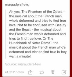 Remind me again, what was Cyrano de Bergerac about? - Things that make me laugh - Beauty Funny Quotes, Funny Memes, Hilarious, Jokes, It's Over Now, Nos4a2, Theatre Nerds, Theater, Musical Theatre