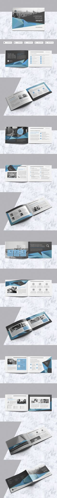 A5 Company Profile Brochure Design Template InDesign INDD