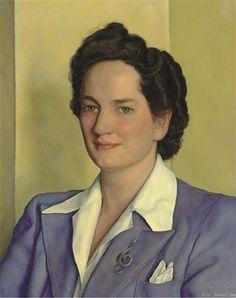 """""""Elizabeth,"""" Luigi Lucioni, 1942, oil on canvas, 20 x 16"""", private collection."""