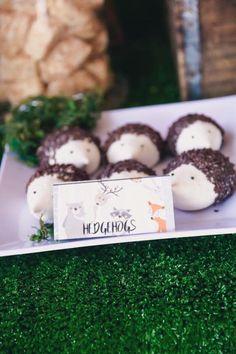 Hedgehog cakes from a Woodland Birthday Party on Kara's Party Ideas | KarasPartyIdeas.com (11)