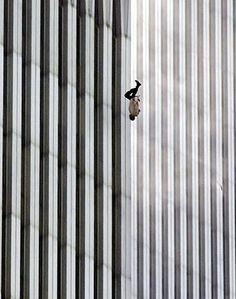Original Falling Man photography by Richard Drew - via Associated Press
