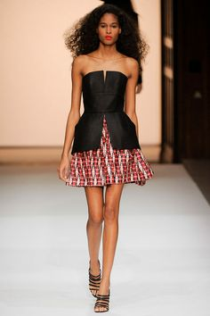 SPRING 2013 READY-TO-WEAR  Martin Grant - with long skirt in same fabric