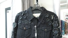 Here's a one-of-a-kind jeans jacket look that will go great with most any dress, skirt or jean you wear.  At Clothes Attic'd.