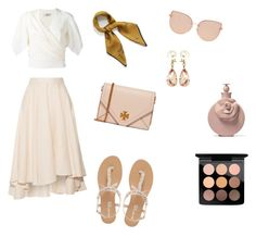 so soft by hilalozkan on Polyvore featuring moda, Lanvin, Miguelina, Head Over Heels by Dune, Tory Burch, Valentin Magro, Mulberry, Topshop and MAC Cosmetics