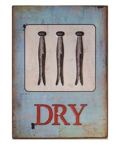 This 'Dry' Laundry Sign by VIP International is perfect! #zulilyfinds