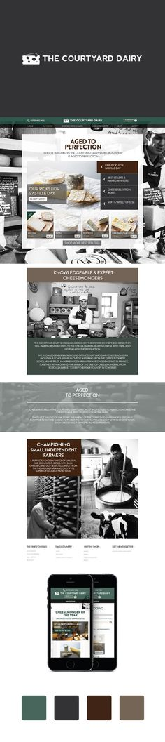 The brilliant website we created for cheese purveyor The Courtyard Dairy. Made B... ** Take a look at even more by going to the image