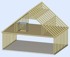Room In Attic Truss Design Peenmedia intended for size 1510 X 1232 Attic Roof Truss Design Calculator - The kitchen may be the main supply of pollutants Attic Conversion Roof, Loft Conversions, Attic Truss, Roof Truss Design, Small Log Cabin, Home Insulation, Casas Containers, Roof Trusses, Attic Renovation