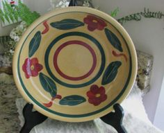 Rare Large Mint Condition Vintage Watt Pottery Pansy by Jjantiq, $60.00