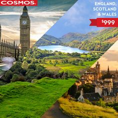 England, Scotland and Wales for $999! Pin if you're ready to go! #VacationsUnder1000