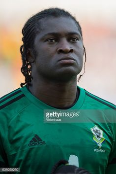 EBANG of Gabon during the Group A match between Gabon v GuineaBissau at Stade de L'Amitie on January 14 2017 in Libreville Gabon