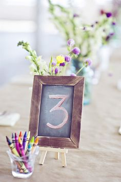new haven wedding photographer - michelle gardella photography -- crayons on kraft paper for third bday table