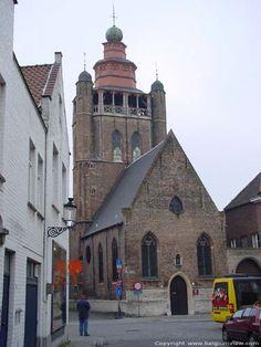 Brugge / Sint-Annawijk / JERUZALEMKERK / Is een klein heiligdom met slechts een hoofdbeuk precies zoals ze tussen 1427 -1429 gebouwd werd.