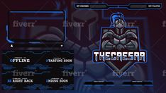 Design twitch, youtube, mixer overlay for your stream in 24hrs by Venom__house
