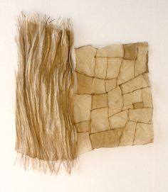 Folio series: life study / flax paper and linen thread -by Susan Warner Keene