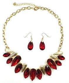 Buy Fashion Jewelry, Trendy Jewelry, Inexpensive Jewelry, Red Necklace, Jewelry Ideas, Jewelry, Valentine Jewelry, Necklace, Necklace Set, Valentine Gift, Jewelry Ideas, Gift Ideas