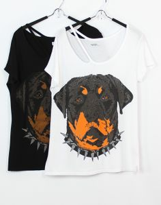 Lauren Moshi Kansas Rottweiler Deconstructed Tee in 2 Colors