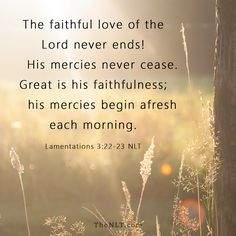 Lamentations 3:22-23 - Encouragement for the day