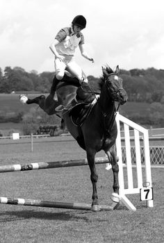 This would be an example of a horse who jumps you outta the tack. i'll pass-    peter james photography