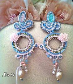 Soutache earrings, Madame Rose, by Nalì Jewels