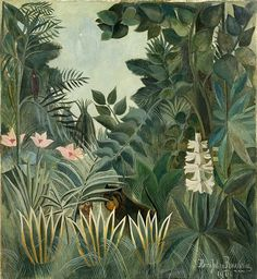 Henri Rousseau The Equatorial Jungle painting for sale - Henri Rousseau The Equatorial Jungle is handmade art reproduction; You can buy Henri Rousseau The Equatorial Jungle painting on canvas or frame. National Gallery Of Art, Art Gallery, National Art, Art Conceptual, Jungle Art, Post Impressionism, Naive Art, Art And Illustration, Free Illustrations
