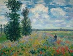 Les Coquelicots  by Claude Monet Monet Paintings, Impressionist Paintings, Landscape Paintings, Impressionist Landscape, Claude Monet, Pierre Auguste Renoir, Monet Poster, Artist Monet, Images D'art
