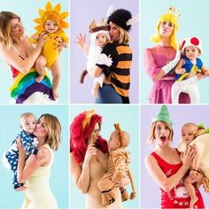 By Misty Spinney A special shoutout to all our fellow new mamas! Here are six DIY costume ideas for you and your baby to rock this Halloween! PRINCESS PEACH AND TOAD Aside from being the best two characters to play with in Mario Kart, Princess Peach and Toad are classics in the world of video games and '80s childhoods.