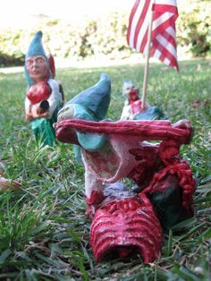 Zombie Gnomes The 2nd Wave by ChrisandJanesPlace on Etsy, $50.00