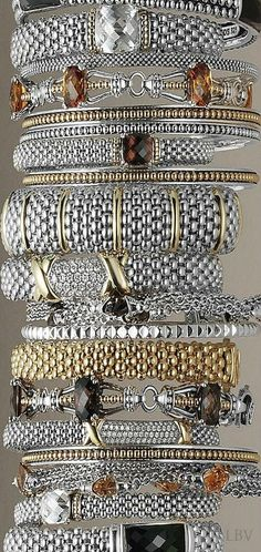 Shop our selection of designer bracelets for women. Choose from our signature Caviar look, simple sterling silver bracelets and more. I Love Jewelry, Jewelry Box, Jewelry Accessories, Fine Jewelry, Fashion Accessories, Silver Bracelets, Bangle Bracelets, Silver Jewelry, Bangles
