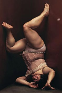 Artist: Wang XiaoBo {contemporary hyperrealism obese female upside down overweight woman and feather painting} Testing General Relativity http://www.physicsoftheuniverse.com/topics_relativity_gravity.html