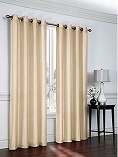 Curtain panels set of 2 window curtains (38x84) (taupe) faux silk panel set By United Linens ** Click image to review more details. (This is an affiliate link and I receive a commission for the sales)
