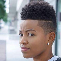 short curly fade haircut for women