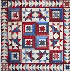 Spangled Cabins By Becky And Me , Pieced Patterns | Quilterswarehouse
