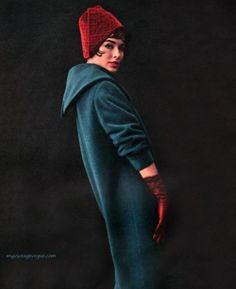 Ein wunderschöner Mantel von - a handful of colors - Retro Vintage Vogue, Mode Vintage, Vintage Glamour, Vintage Style, Vintage Woman, Vintage Hats, Retro Style, Retro Vintage, 1950s Style