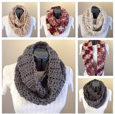 Cowl/Infinity Scarf- Many Colors Available by GrindleHillFineGoods on Etsy