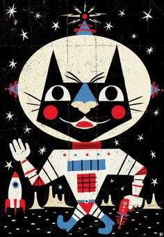 Astro Cat by Ben Newman.