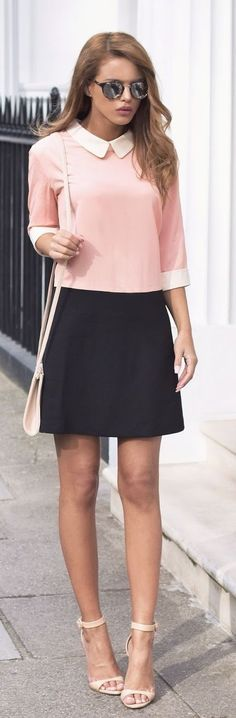 Blush Pink + Black + Pop Of White