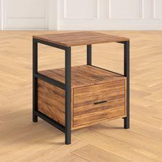 Home Furniture, Furniture Design, Bedside Table Design, Floor Shelf, End Tables With Storage, Storage Design, Storage Drawers, House Colors, Side Tables