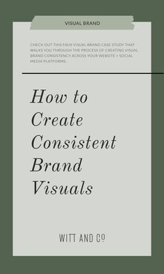 Check out this faux visual brand case study that walks you through the process of creating visual brand consistency across your website + social media platforms. Branding Your Business, Personal Branding, Business Marketing, Creative Business, Social Media Branding, Etsy Business, Corporate Branding, Business Tips, Brand Identity Design