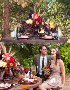Backyard winter wedding ideas from Green Wedding Shoes