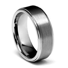 Valentines Day 8mm Rounded Edge Men's Cobalt Free Tungsten Carbide Comfort-fit Wedding Band Ring (Size 5 to 14) The World Jewelry Center. $18.00. scratch proof. Promptly Packaged with Free Gift Box and Gift Bag. Tungsten has a tendency to break when hit with a hard material