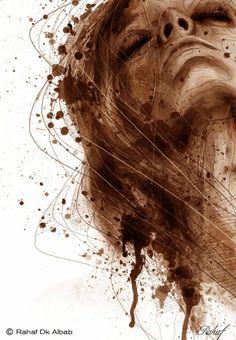 Rahaf Dk Albab digital illustrations watercolor paintings women birds