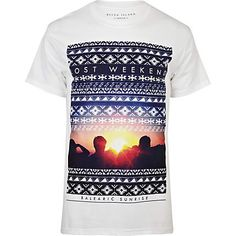 white lost weekend navajo print t-shirt - print t-shirts - t-shirts / vests - men - River Island