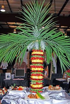 how to make a pineapple tree display