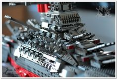 Space Battleship Yamato - Lego model by Vincent Cheung
