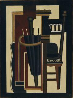 Fernand Léger. Umbrella and Bowler (1926)