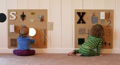 DIY Sensory Boards for Babies and Toddlers from Fun at Home with Kids