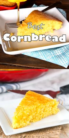 Best Cornbread Recipe Best Cornbread Recipe- a sweet cornbread recipe that you can make in a skillet, a baking dish or even in a muffin tin. Stop searching, this will become your go to corn bread! Southern Cornbread Recipe, Honey Cornbread, Homemade Cornbread, How To Make Cornbread, Cornbread Recipes, Best Homemade Bread Recipe, Buttermilk Recipes, Corn Cakes, Pulled Pork