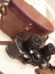 Antique French Mohrson Binoculars with Leather Case by renew2u